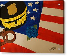 Tribute To Law Enforcement Acrylic Print by Elizabeth Kilbride