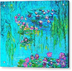 Tribute To Monet Acrylic Print by Holly Martinson