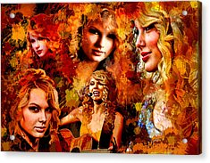 Tribute To Taylor Swift Acrylic Print by Alex Martoni
