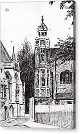 Trinity Street Cambridge Acrylic Print by Vincent Alexander Booth