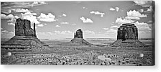 Trio    Left And Right Mittens And Merrick Butte  Acrylic Print by Ryan Kelly