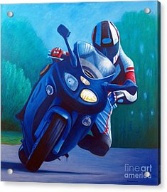 Triumph Sprint - Franklin Canyon  Acrylic Print by Brian  Commerford