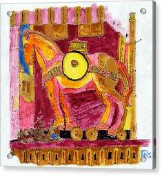 Trojan Horse Acrylic Print by Phil Strang