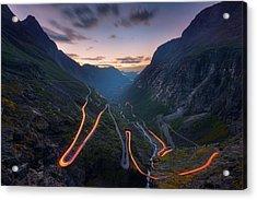 Trolls' Path Acrylic Print by Tor-Ivar Naess