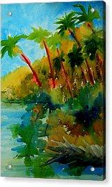 Tropical Canal Acrylic Print by Julianne Felton