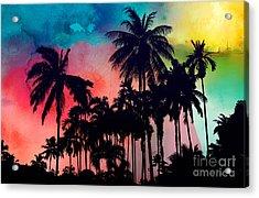 Tropical Colors Acrylic Print by Mark Ashkenazi