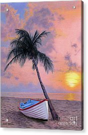 Tropical Escape Acrylic Print by Sarah Batalka