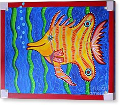 Tropical Fish Acrylic Print by Claudia Tuli