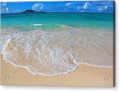 Tropical Hawaiian Shore Acrylic Print by Kerri Ligatich