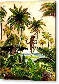 Tropical Scene Acrylic Print by John Keaton
