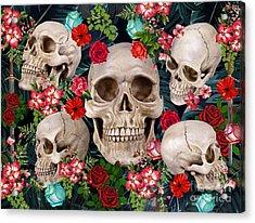 Tropical Skull  Acrylic Print by Mark Ashkenazi