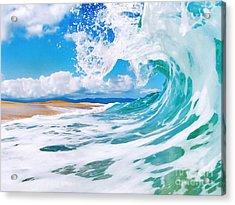True Blue Acrylic Print by Paul Topp