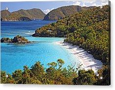Trunk Bay St John Us Virgin Islands Acrylic Print by George Oze