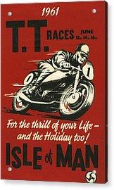 Tt Races 1961 Acrylic Print by Georgia Fowler