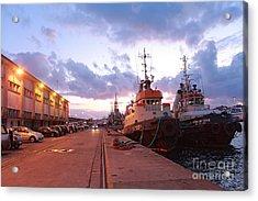 Tug Boats Acrylic Print by Gaspar Avila