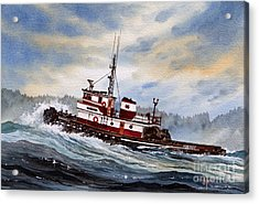 Tugboat Earnest Acrylic Print by James Williamson