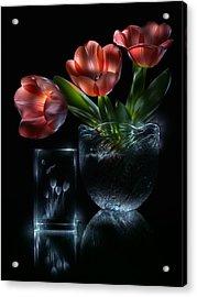 Tulips Acrylic Print by Alexey Kljatov