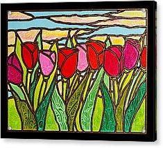Tulips At Sunrise Acrylic Print by Jim Harris