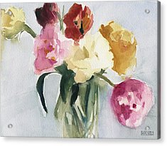 Tulips In My Studio Acrylic Print by Beverly Brown