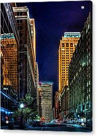 Tulsa Nightlife Acrylic Print by Tamyra Ayles