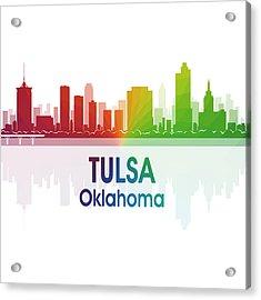 Tulsa Ok 1 Squared Acrylic Print by Angelina Vick