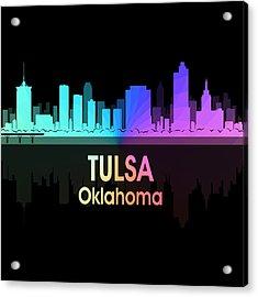 Tulsa Ok 5 Squared Acrylic Print by Angelina Vick