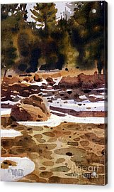 Tuolumne River Freeze Acrylic Print by Donald Maier