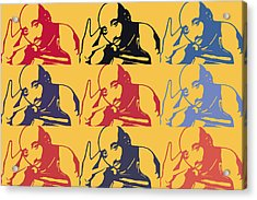 Tupac Shakur Graffiti In Andy Warhol Style Acrylic Print by Toppart Sweden