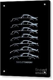Turbo Sports Car Silhouettehistory Acrylic Print by Gabor Vida