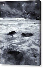 Turbulent Seas Acrylic Print by Mike  Dawson