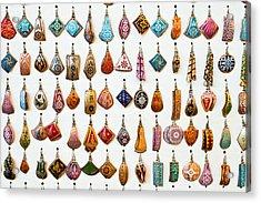 Turkish Earrings Acrylic Print by Tom Gowanlock