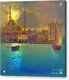 Turkish  Moonlight Acrylic Print by Saiyyidah Seema  Z