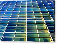 Turquoise Building Acrylic Print by Todd Klassy