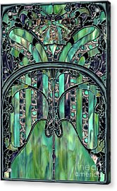 Turquoise Window Jewels Acrylic Print by Mindy Sommers