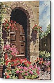 Tuscan Door Acrylic Print by Sam Sidders