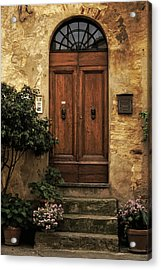 Tuscan Entrance Acrylic Print by Andrew Soundarajan