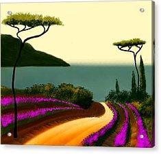 Tuscan Fields Of Beauty Acrylic Print by Larry Cirigliano