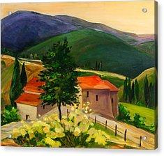 Tuscan Hills Acrylic Print by Elise Palmigiani