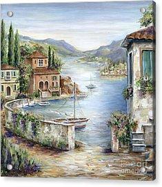 Tuscan Villas By The Sea II Acrylic Print by Marilyn Dunlap