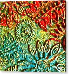 Tuscany Batik Acrylic Print by Gwyn Newcombe