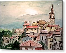 Tuscany Landscape Acrylic Print by Jim Phillips