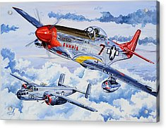 Tuskegee Airman Acrylic Print by Charles Taylor