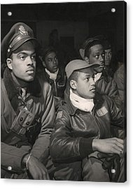 Tuskegee Airmen Of The 332nd Fighter Acrylic Print by Everett