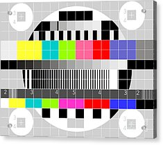 Tv Multicolor Signal Test Pattern Acrylic Print by Aloysius Patrimonio