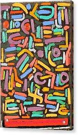 Color Order No.2  24 X 36  2014 Acrylic Print by Radoslaw Zipper