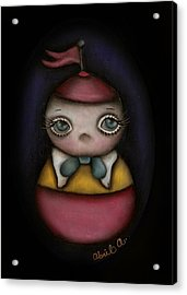 Tweedle Dum Acrylic Print by  Abril Andrade Griffith