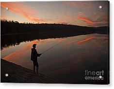 Twilight Fishing Delight Acrylic Print by John Stephens
