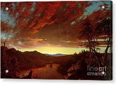 Twilight In The Wilderness Acrylic Print by Frederic Edwin Church