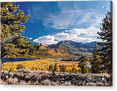 Twin Lakes And Quail Mountain - Independence Pass - In Late September - Rocky Mountains Colorado Acrylic Print by Silvio Ligutti