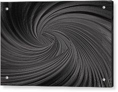 Twist To Black  - Black And Gray Art Acrylic Print by Lourry Legarde